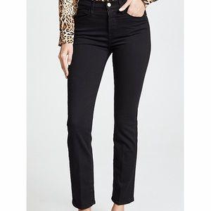Frame Denim Le High Straight Jeans Black Size 27